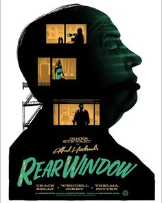 Poster,North by Northwest Psycho,Rear window Alfred Hitchcock Portrait Print