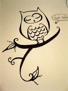 easy drawings of owls | Found on indulgy.com