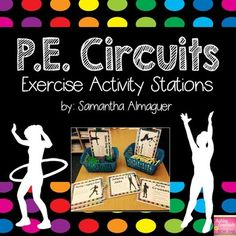 Circuits are a fun and exciting way to teach P. to your students! There are 12 different circuit station activities for you to choose from, as well as 5 different stretching exercises. Exercise Activities, Exercise For Kids, Cue Cards, Task Cards, Elementary Pe, Pe Lessons, Health And Physical Education, Indoor Recess, Pe Ideas