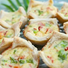 Red and Green Quiche Bites | Recipes | Spoonful