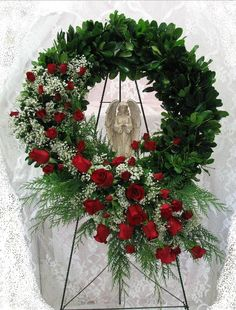 Sympathy ~ Angel Keepsake Wreath