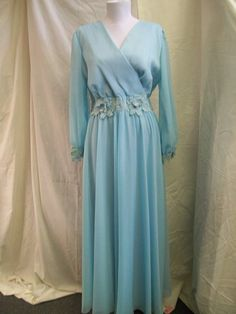 Clearance   Mother of the Bride Powder Blue Formal Full Length Gown size M-L