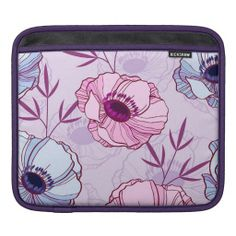 anemone floral pattern colorful cute #ipadsleeve #ipad #sleeve #floral #flowers #girly #cute #pink