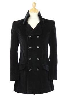 Velvet Goldmine MADCAP ENGLAND High Collar Jacket. Dandy 1960s style double breasted velvet jacket online now at Atom Retro. http://www.atomretro.com/product_info.cfm?product_id=13841 #madcapengland #velvetjacket #atomretro