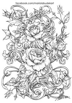 Detailed Coloring Pages, Printable Adult Coloring Pages, Cool Coloring Pages, Flower Coloring Pages, Coloring Pages To Print, Mandala Coloring, Coloring Books, Colorful Drawings, Colorful Pictures