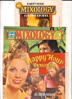 Lot of 3 1970's Drink Mix Recipe Brochures Happy Hour and Mixology - Advintage…