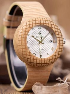 Quartz watch in wood for men and women, leather strap, wrist watch, gifts in box myalleshop Watch Gift Box, Wooden Watch, Watch Brands, Watches For Men, Women's Watches, Luxury Watches, Wooden Boxes, Quartz Watch, Fashion Watches