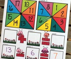 Counting valentines is easy with these free math mats!