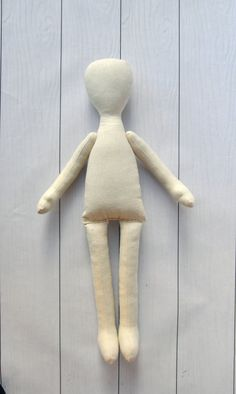 Blank doll body-15tilda blank rag doll ragdoll by NilaDolss
