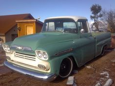 Sweet Low Green Chevy Truck