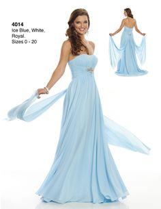 Wow! Style 4014 - light blue bridesmaid dress