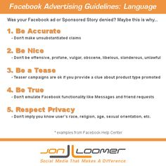 Facebook Advertising Guidelines: Acceptable Language