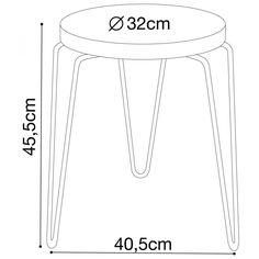 Tabouret design métal et bois Spider