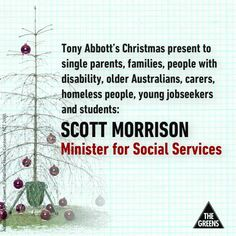 Abbott's Christmas present to Australia's most vulnerable - Scott Morrison #auspol