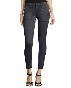 Cadet+Skinny+Ankle+Pants,+Stingray+by+Joie+at+Neiman+Marcus.