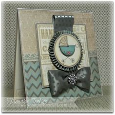 6x6 card using Close To My Heart's Baby Carriage and December's Stamp of the Month, Special Care.  Also, used Frosted paper and other various CTMH products.  Card created for Stamp of the Month Blog Hop.  Based on a sketch from Mojo Monday and created by Tamytha Jenkins of www.paperheartist.com