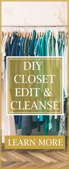 "It's time for you to finally love your wardrobe and enjoy going into your closet. ★ Learn to edit and cleanse your wardrobe like a pro stylist! ★ Get ready to end your ""I have nothing to wear"" headaches with The Shopping Friend's Step-By-Step DIY Closet Edit and Cleanse Blueprint. ★ Stop the madness and learn how The Shopping Friend's professional personal styling team has done it for over a thousand clients!  Organize closet. Organizing DIY. Closet organization. Closet Edit. Womens Casual"
