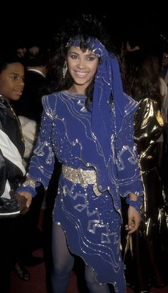 Denise Matthews aka Vanity at The Last Dragon premiere 1985