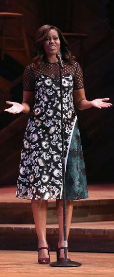 Michelle Obama wore a Self-Portrait dress