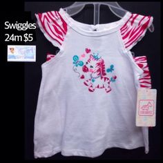 Swiggles 24m Infant Toddler Girls Pink Zebra NEW W/Tags 2pc Set $5