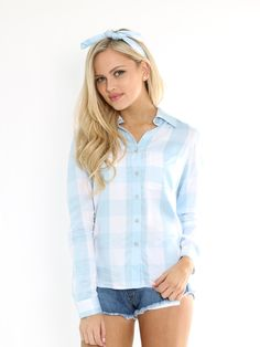 Mrs. Decker' Plaid Shirt - Kittenish Collection
