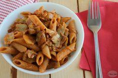 Pasta integrale al sugo di carciofi :http://blog.giallozafferano.it/ricettedilibellula/pasta-integrale-al-sugo-carciofi/