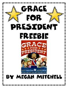 """Grace for President Freebie : FREE """"Grace for President"""" Responses by Megan Mitchell.love her stuff! Kindergarten Social Studies, Teaching Social Studies, Student Teaching, Kindergarten Activities, Book Activities, Government Lessons, Teaching Government, Comprehension Activities, Reading Strategies"""