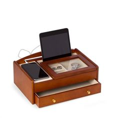Executive Wood Valet Box Personalized wood valet box makes a