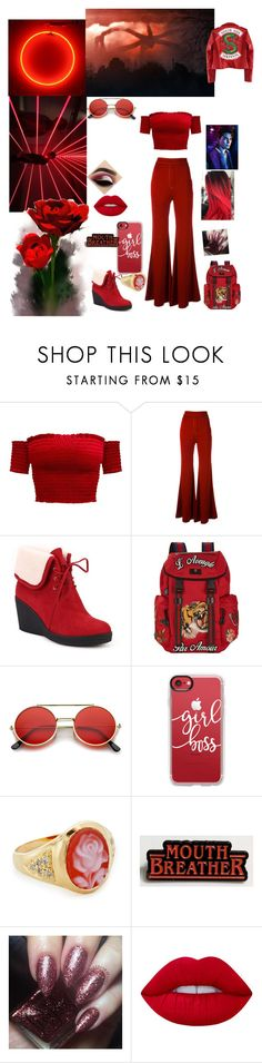 """""""riverdale life roleplay"""" by rociofloreslover ❤ liked on Polyvore featuring E L L E R Y, Ann Creek, Gucci, ZeroUV, Casetify, Jacquie Aiche, Beauty Bakerie, Lime Crime and riverdale"""