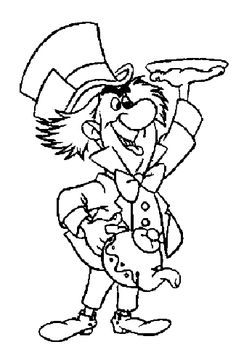 collection of mad hatter coloring pages to print and color