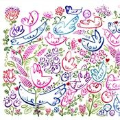 Helen Lang's whimsical illustrations are guaranteed to make you smile. Textures Patterns, Print Patterns, Surface Design, Fabric Design, Illustrators, Whimsical, Doodles, Artsy, Design Inspiration
