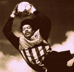 René Higuita. Flying goalkeeper. 1990.