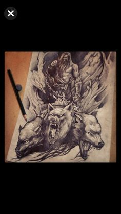 God Tattoos, Mythology, Painting, Animals, Rpg, Blue Prints, Cool Tattoos, Animales, Animaux