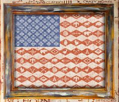 American Flag Southwest Print