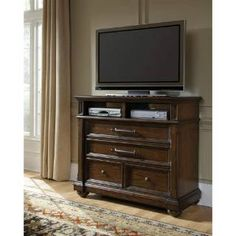 Check out the Pulaski 673145 Durango Ridge 3 Drawers Media Chest in Dark Brown priced at $959.99 at Homeclick.com.