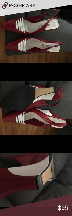 🔥🔥🔥FINAL PRICE DROP. NEW: red platform shoes Gorgeous red and white platform shoes Shoes Platforms
