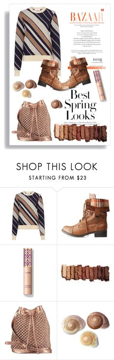 """""""AUTUMN look"""" by azra612 ❤ liked on Polyvore featuring H&M, Carven, Charlotte Russe, Urban Decay, nooki design, brown, autumn, naked and otufit"""