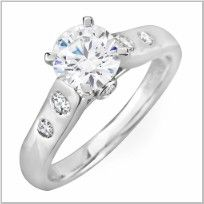 Engagement Ring 14k White Gold 0.25 ctw Setting Only Model # P950341