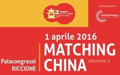 Workshop- Matching China, 1 aprile 2016, Riccione
