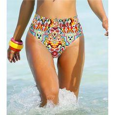 Maillot de bain slip taille haute femme Venca - Multicolore- Vue 1