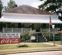 Hank Williams Boyhood Home & Museum- Georgiana, Alabama