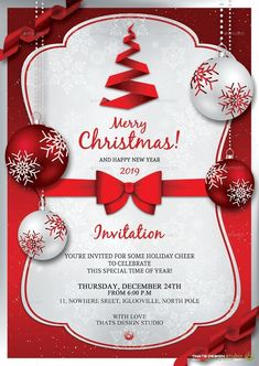 Free Xmas Invitations Free Christmas Invitation Templatesfill In The Blanks And .