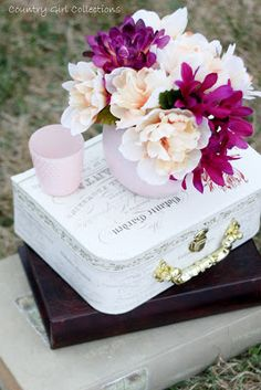 Blush Pink and Purple Wedding Décor by Country Girl Collections