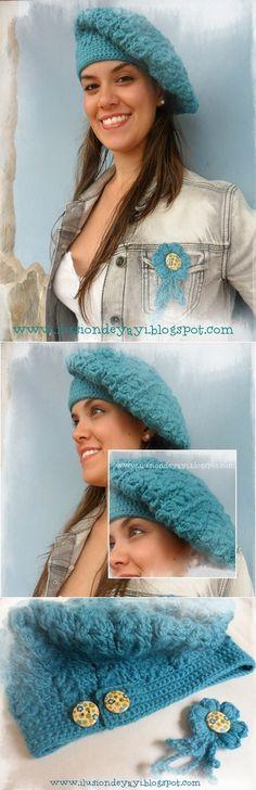 ♥ Gorro crochet ajustable