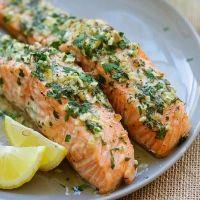Garlic Herb Roasted Salmon | Easy Delicious Recipes