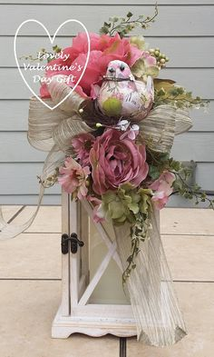 Romantic Lantern Swag Cottage Chic Swag by TheChicyShackWreaths