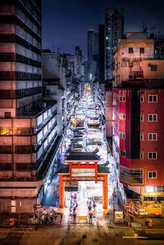 Temple street market, Kowloon, Hong Kong