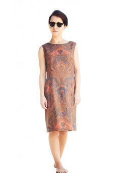 Original Vintage Printed Midi Dress