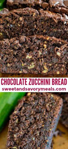 Breakfast Bread Recipes, Brunch Recipes, Dessert Recipes, Loaf Recipes, Breakfast Buffet, Dessert Ideas, Breakfast Ideas, Cookie Recipes, Chocolate Zucchini Bread