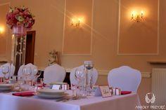 10. Pink Wedding,Centerpieces / Różowe wesele,Dekoracje stołów,Anioły Przyjęć